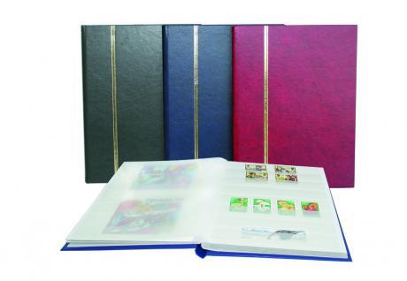 SAFE 131-1 Briefmarken Einsteckbücher Einsteckbuch Einsteckalbum Einsteckalben Album im Buchformat A5 Weinrot - Rot 16 weissen Seiten - Vorschau 2