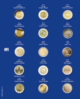 1 x SAFE 7822-16 TOPset Münzblätter Ergänzungsblätter Münzhüllen Münzblatt mit farbigem Vordruckblatt für 2 Euromünzen Gedenkmünzen - 2015 - 2016