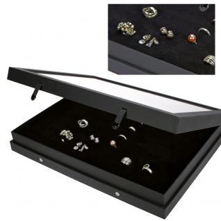 SAFE 5685 Black Edition Sammelvitrinen Vitrinen Setzkasten Für bis zu 48 Weissgold Gold Silber Platin Ringe - Schmuck Modeschmuck - Vorschau 3