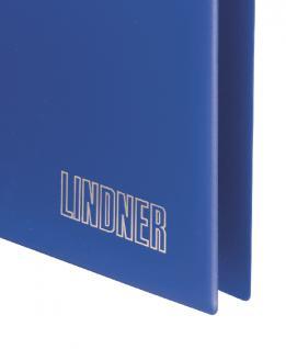 Lindner 1700 UNIPLATE Ringbinder Album Standard Blau mit 3 Ring - Mechanik (leer) zum selbstbefüllen