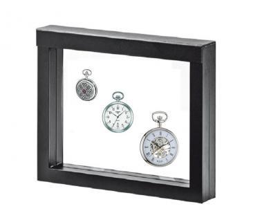 LINDNER 4831 NIMBUS 230 Sammelrahmen Schweberahmen 3D Für Taschenuhren - Armbanduhren - Uhren - Schmuck - Vorschau 1