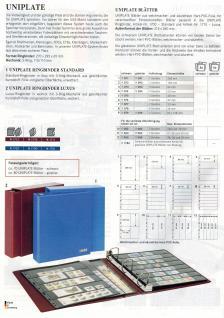 5 x LINDNER 075 UNIPLATE Blätter, schwarz 5 Streifen / Taschen 48 x 194 mm Für Briefmarken - Vorschau 3