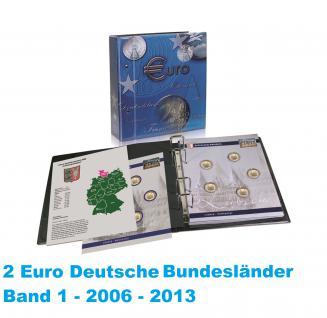SAFE 7821-B1 TOPset 2 EUROMÜNZEN Deutsche Bundesländer Münzalbum inclusive 8 Münzblättern Band 1 bis 2006 - 2013 Serie 2006-2021