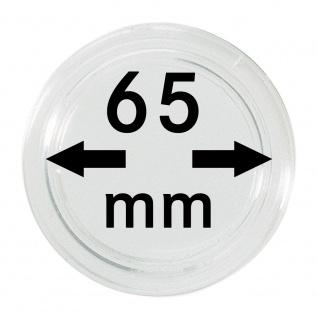 1 x Lindner S22706500 Spezial Münzkapseln Kapseln EXTRA HOCH Innen-Ø 65 mm, Innenhöhe 5, 4 mm Ideal für Geocoins & TBs Travel Bugs & Geocaching