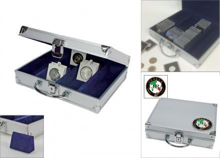 SAFE 548 - 232 ALU Münzkoffer Premium Italien / Italy / Italia für bis zu 220 Münzrähmchen Octo Quadrum Carree Münzkapseln