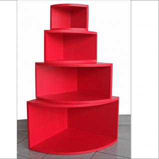 """4 er Set SAFE 5354 Deko Präsentations Eck-Boards """" Syno Rot """" Größe 1 - 2 - 3 - 4 / S - M - L - XL - Für alle Ihre Schätze von A - Z"""