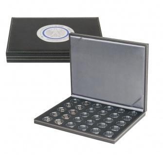 Lindner SO2364BS-2K Münzkassette NERA M BLACK SAMT für 30x Deutsche 5 Euro Gedenkmünzen Blauer Planet & Klimazonen 2016 - 2021 + 30 Münzkapseln 27, 5 mm - Vorschau 2
