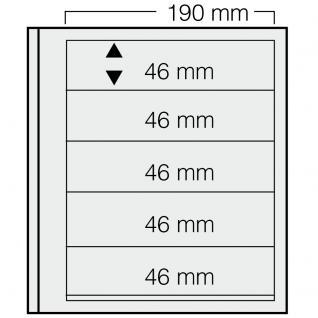 5 x SAFE 615 dual Blankoblätter Einsteckblätter Ergänzungsblätter mit je 5 Taschen 190 x 46 mm Für Briefmarken - Banknoten - Briefe - Postkarten