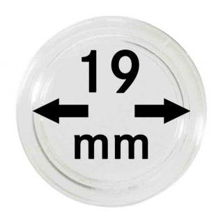 10 LINDNER Münzkapseln / Münzenkapseln Capsules Caps 19 mm 2250019P - Vorschau 1