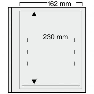 1 x SAFE 720 dual Blankoblätter Einsteckblätter Ergänzungsblätter mit je 1 Tasche 162 x 230 für ETB'S