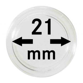 100 LINDNER Münzkapseln / Münzenkapseln Capsules Caps 21 mm 2251021