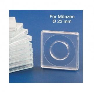 5 x SAFE 3123 Quadratische Münzkapseln Münzdosen Square 50x50 mm glasklar für Münzen bis 23 mm - Ideal für 20 Cent - 20 Mark Kaiserreich Gold - 10 Rubel Nicholas II Gold - Vorschau 2
