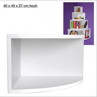 """SAFE 5350 Deko Präsentations Eck-Boards """" Syno Weiss """" L - Large L 40 x H 40 x T 27 cm - Für alle Ihre Schätze von A - Z"""