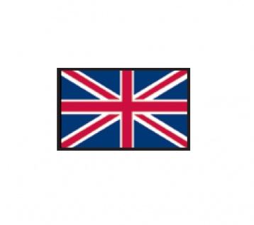 1 x SAFE 1175 SIGNETTE Flagge Grossbritannien - England - United Kingdom - Vereinigtes Königreich Aufkleber Kennzeichnungshilfe - selbstklebend