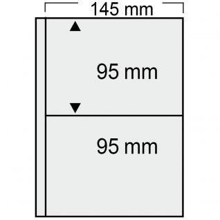 10 SAFE 7869 Compact Ergänzungsblätter Hüllen 2 Taschen 145 x 95 mm + sandf. ZWL Für alte Postkarten , alte Ansichtskarte , Banknoten