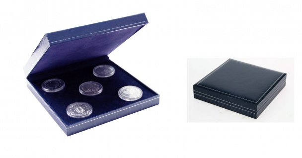 SAFE 7917 Dunkelblaues Münzetui mit Schmuckp.für Deutsche 5 x 10 & 20 Euro Silber Gedenkmünzen Set's - Vorschau 1