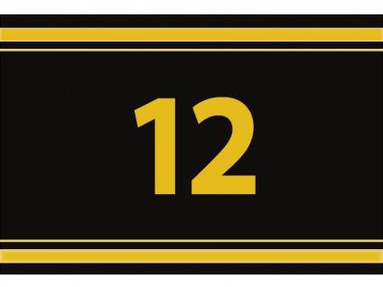 """1 x SAFE 1130 SIGNETTE Aufkleber """" 12 """" Zahlen Ziffern Bandzahlen"""