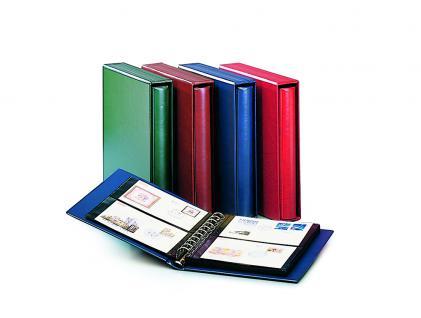 SAFE 708-1 Ringbinder Album Variant Weinrot - Rot 233 x 274 x 45 mm (leer) zum selbstbefüllen Für Banknoten Blocks Briefmarken Briefe ETB FDC Postkarten