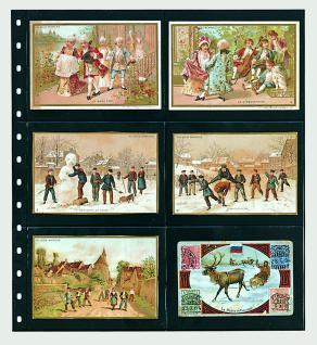 1 x SAFE 7733 Einsteckblätter Spezialblätter Favorit Schwarz 6 Taschen 125 x 95 mm Für 12 Spielkarten - Tradingcards - Liebig Bilder