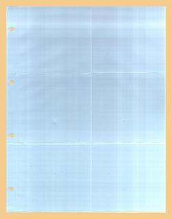 10 x KOBRA G56E Ergänzungsblätter DIN A4 6 Taschen 110x98mm Für kl runde & quadratische Bierdeckel