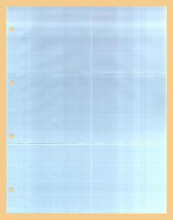 5 x KOBRA G56E Ergänzungsblätter DIN A4 6 Taschen 110x98mm Für kl runde & quadratische Bierdeckel