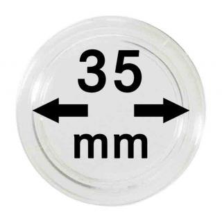 100 LINDNER Münzkapseln / Münzenkapseln Capsules Caps 35 mm 2251035