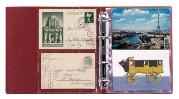 Lindner 5800-H Postkartenalbum Lotos Hellbraun Braun + 50 Klarsichthüllen 5801 für bis zu 200 Postkarten - Ansichtskarten - Banknoten - Briefe - Belege - Vorschau 2