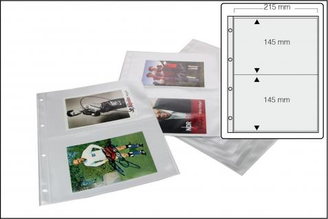 100 x SAFE 5477 Autogrammkartenhüllen Hüllen Ergänzungsblätter DIN A4 2er Teilung DIN A5 für bis zu 400 große Autogramme & Autographen