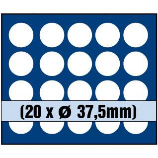 1 x SAFE 6336 SP Tableaus Einsätze SMART 20 eckigen Fächern 36 mm 5 Euro DM Mark DDR in Münzkapseln - Vorschau 1