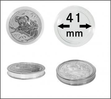 100 x Lindner S2255041P Spezial Münzkapseln Capsules EXTRA HOCH Innen-Ø 41 mm, Innenhöhe 5, 5 mm