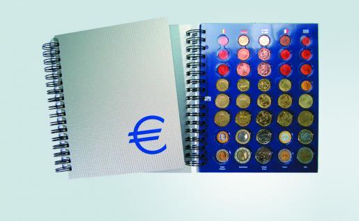 SAFE 7803 Euro Münzalbum TOPset Spiralbindung 20 Euro Kursmünzensätze KMS 1 Cent - 2 Euromünzen in Münzkapseln von Andorra - Zypern zum eindrücken - Vorschau 1