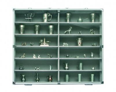 SAFE 5777 Alu Sammelvitrinen Vitrinen Setzkasten MAXI mit 12 Fächern in grau Für Mini Trucks LKW Modellbau KFZ Autos - Vorschau 5