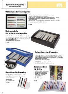 SAFE 5908 Schwarze Sammelvitrine Vitrinen in Klavierlack Optik für 12 Schreibgeräte - Füller - Füllfederhalter - Kulgelschreiber usw. - Vorschau 2