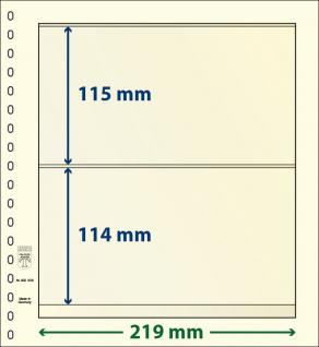 5 x LINDNER DT802208P DT-Blanko-Blätter Blankoblatt 18-Ring Lochung - 2x 2 Taschen 114 x 219 mm