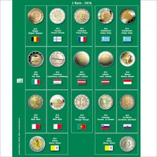 SAFE 7341-17 Premium Münzblätter 7393 mit Vordruckblättern 2 Euro Münzen Gedenkmünzen 2016