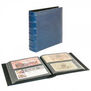 LINDNER 812XL-B Firmo L Universal Album Sammelalbum Blau Lang 245 x 132 mm Für 216 Briefe FDC Postkarten Ansichtskarten Banknoten Geldscheine