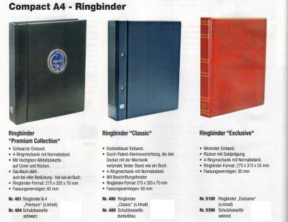 5 x SAFE 476 Compact A4 Einsteckblätter Hüllen Spezialblätter Schwarz 107x145 mm Für 8 Spielkarten - Vorschau 5