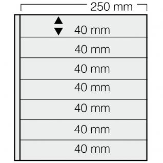 1 x SAFE 737 Einsteckblätter GARANT Schwarz beidseitig nutzbar 7 Taschen 250 x 40 mm Für Briefmarken Briefe Sammelobjekte - Vorschau 1