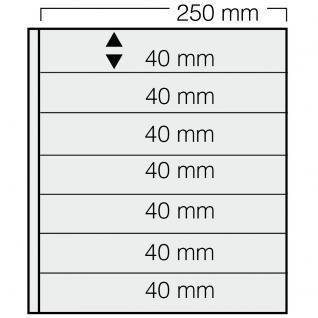 5 x SAFE 827 Einsteckblätter GARANT glasklar & transparent 7 Taschen 250 x 40 mm Für Briefmarken Briefe Sammelobjekte