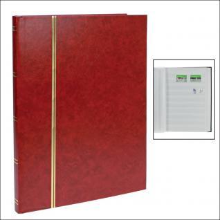 SAFE 110-1 Briefmarken Einsteckbücher Einsteckbuch Einsteckalbum Einsteckalben Album Weinrot - Rot 16 weissen Seiten