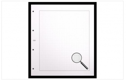 10 KOBRA V2E Blankoblätter aus weißem Karton mit zartem schwarzem Netzunterdruck 265x297 mm