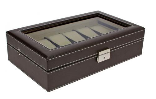 SAFE 73630 Skai Uhrenkoffer Kassette Tabak - Dunkelbraun Für 12 Uhren + Uhrenhaltern Cremefarbend - Vorschau 2