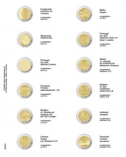 1 x LINDNER MU2E21 Multi Collect Münzhüllen Vordruckblatt 2 Euro Gedenkmünzen Frankreich 2018 - Finnland 2018