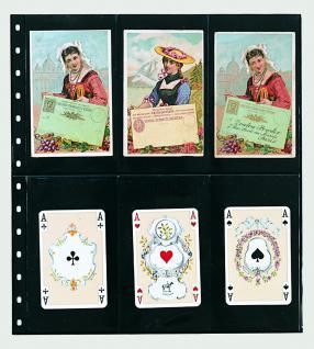 1 x SAFE 7732 Einsteckblätter Spezialblätter Favorit Schwarz 6 Taschen 82 x 145 mm Für 12 Spielkarten - Tradingcards - Vorschau 1