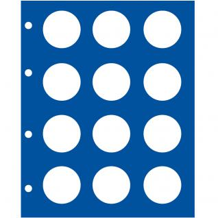 5 x SAFE 7826 TOPset Münzblätter Erganzungsblätter Münzhüllen für 2 Euromünzzen in Münzkapseln Caps 26