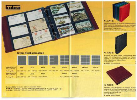 KOBRA AK1B Blau Großes Postkartenalbum Album Ringbinder zum selbst befüllen Für Postkarten - Ansichtskarten - Banknoten - Briefe - Vorschau 3