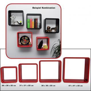 """SAFE 5328 Set Design Deko Präsentationsrahmen Würfel Cube Vintage Regal """" Quadro Rot """" S M L XL - L 26 - 31 - 36 - 41 cm x B 26 - 31 - 36 - 41 cm x T 19, 5 cm"""