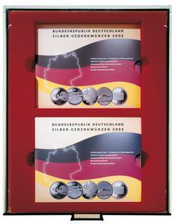 Lindner 2853 d-box 10-EURO-Gedenkmünzen-Set Rauchglas