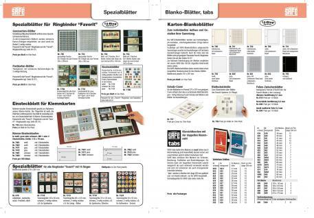 10 x SAFE 792 Karton Blankoblätter Favorit Weiss ohne jeden Vordruck - Vorschau 4