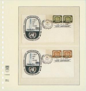 10 x LINDNER 802203P T-Blanko-Blätter Blankoblatt 18-Ring Lochung - 2 Taschen 65 / 164 x 189 mm - Vorschau 2